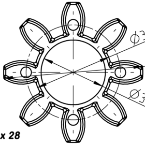 SIDURI ELEMENT ROTEX 28 92Sh T-PUR ORANZ -KTR-
