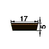 VARIAATORRIHM 17 X 5 X 776Li -SWR-
