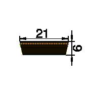 VARIAATORIRIHM 21 X 6 X 900Li -SWR-